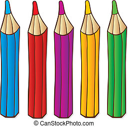 Crayons - illustration of color crayons