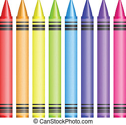 crayons, vector, illustratie