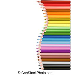 Crayons Wave - colored crayons set as illustration