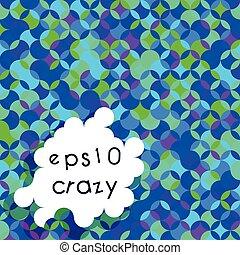 Crazy bright multicolored pattern of circle segments