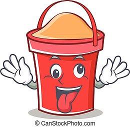 Crazy bucket character cartoon style