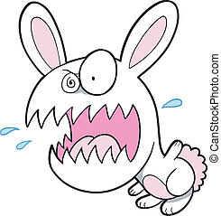 Crazy Bunny Rabbit Vector art - Crazy Bunny Rabbit Vector...
