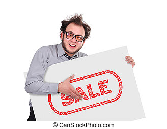 signboard with sale