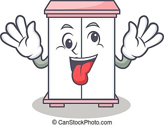 Crazy cabinet character cartoon style