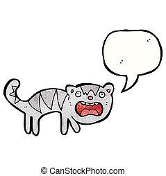 crazy cartoon cat