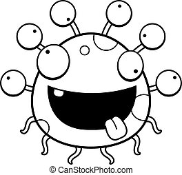 Crazy Cartoon Eyeball Monster