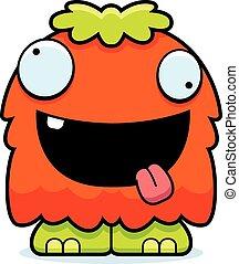 Crazy Cartoon Fluffy Monster