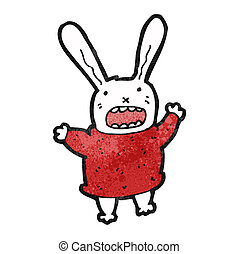 crazy cartoon rabbit