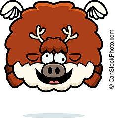 Crazy Cartoon Reindeer