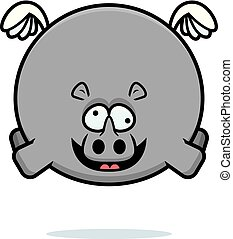Crazy Cartoon Rhino