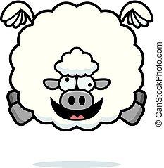 Crazy Cartoon Sheep