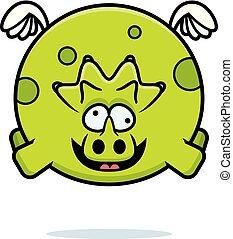 Crazy Cartoon Triceratops