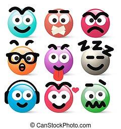 Crazy Circle Avatar Faces