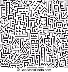 crazy city - seamless vector background