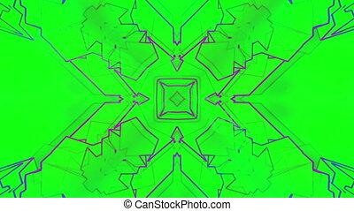 Crazy color geometric VJ loop - Animated crazy color...