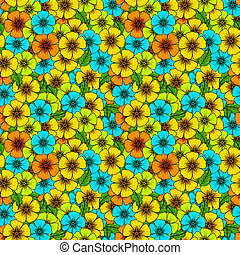 Crazy colors floral seamless pattern