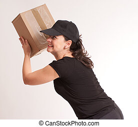 Crazy delivery girl