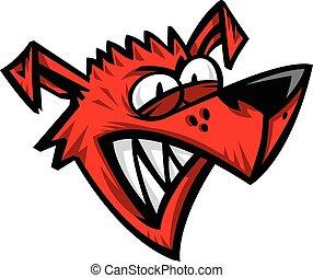 Crazy Dog Cartoon vector