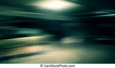 Crazy drive in underground garage
