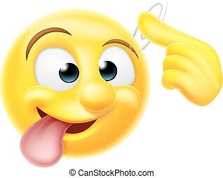 Crazy Emoji Emoticon Character