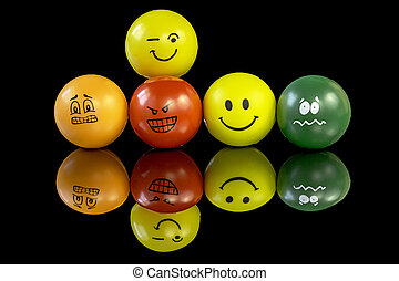 crazy expressions on stress balls