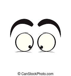 Crazy eyes cartoon