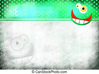 Crazy Face Note Paper - A digitally painted scrappy note...