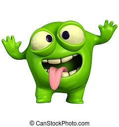 crazy green monster