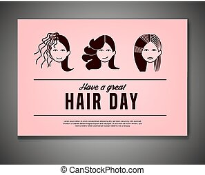 Crazy Hair Day Poster - Have a great hair day. Landscape...