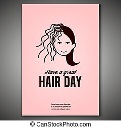 Crazy Hair Day Poster - Have a great hair day. Vertical...