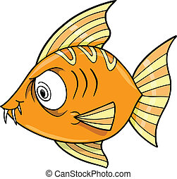Crazy Insane Fish Ocean Vector