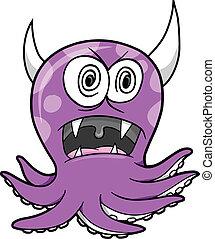 Crazy Insane Octopus Vector