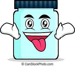 Crazy jar character cartoon style