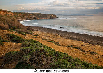 Crazy left beach in Ericeira Portugal - Crazy left beach in ...
