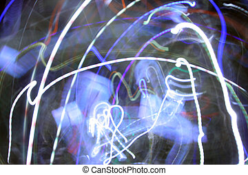 crazy lights - long exposure shot in a disco to capture...
