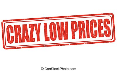 Crazy low prices stamp