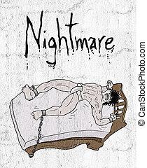 crazy nightmare illustration