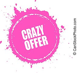 Crazy offer splash splatter icon