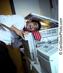 young business in trouble with the copy machine