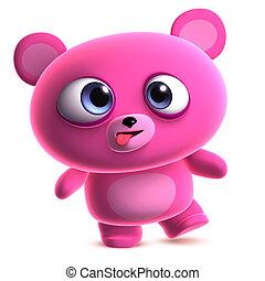crazy pink bear