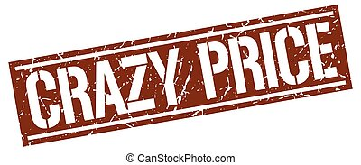 crazy price square grunge stamp