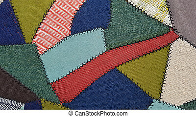 crazy quilt pattern upholstery