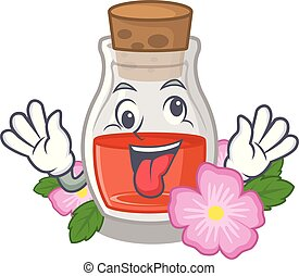 Crazy rosehip seed oil on a mascot
