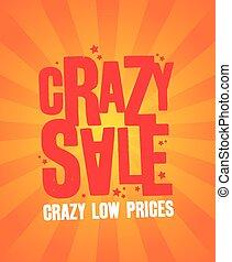 Crazy sale banner.