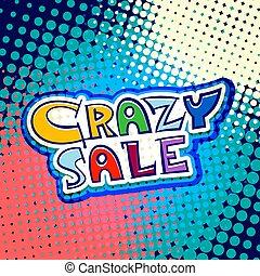 crazy sale marketing banner vector