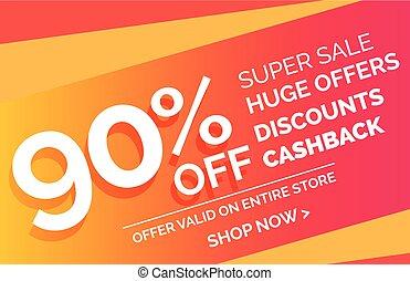 crazy sale offer discount banner voucher template design