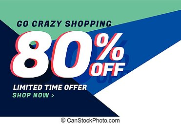 crazy shopping sale banner design with offer details