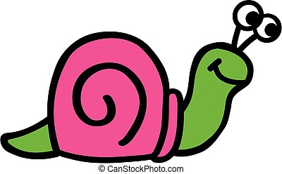Crazy Snails in pink and green