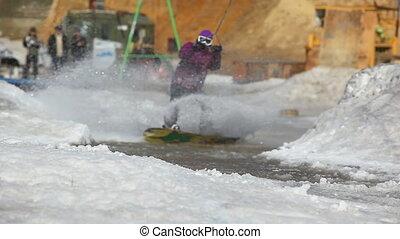 Crazy snowboarder