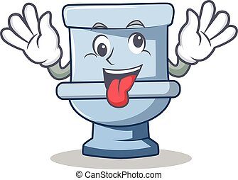 Crazy toilet character cartoon style